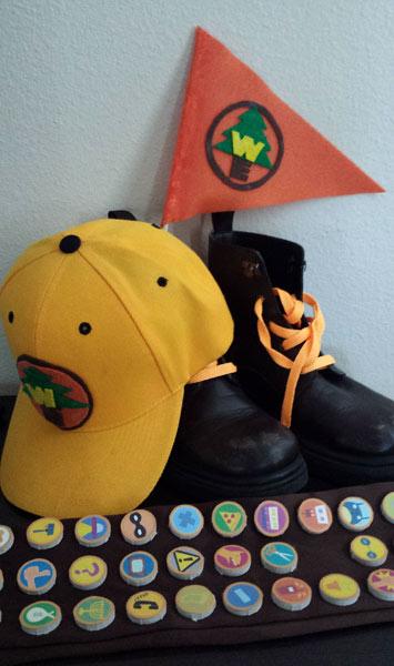 wilderness explorer costume parts