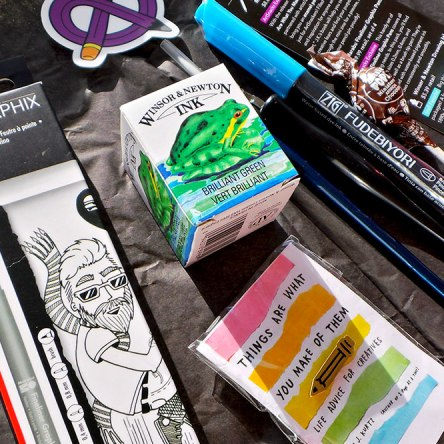 art supplies for inktober
