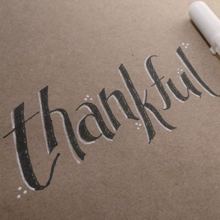 handlettering thankful