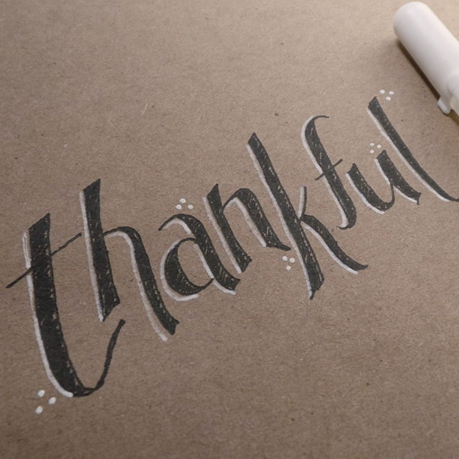 handlettering thankful